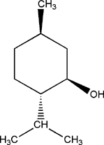 Menthol, chemical structure, molecular formula, Reference Standards
